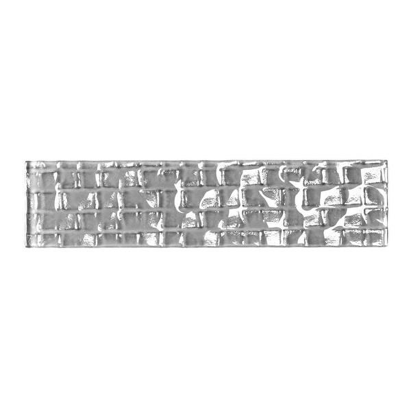 "Miseno MT-WHSMEC0208-PE Metro Cubes - 2"" x 8"" Rectangle Wall Tile - Glossy Visual - Gray"