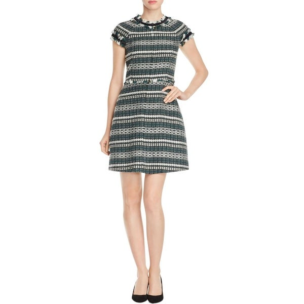 83c0146921d Shop Tory Burch Womens Norfolk Skater Dress Tweed - Free Shipping Today -  Overstock.com - 17493308