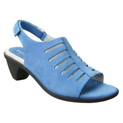 David Tate Womens lexus Leather Open Toe Casual Slingback Sandals