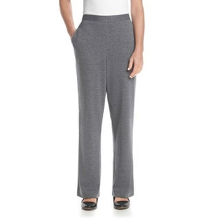 Alfred Dunner Madrid Pull On Straight Leg Trousers Pants - 16