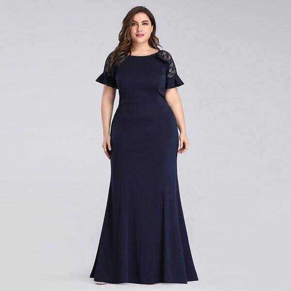 Shop Ever-Pretty Women Plus Size Fishtail Lace Formal ...