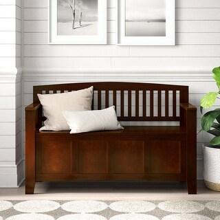 Link to Copper Grove Kenai Fjords Flip Top Slat Back Bench Similar Items in Living Room Furniture
