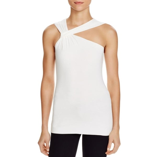 Bailey 44 Womens Ares Pullover Top Mesh Inset Sleeveless