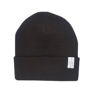 TopHeadwear Logo Winter Long Beanie, Black