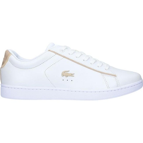 3c0c961ef Shop Lacoste Women s Carnaby EVO Leather Sneaker White Gold Leather - Free  Shipping Today - Overstock - 27428865
