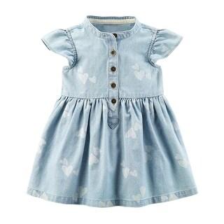 Carter's Baby Girls' Heart Chambray Shirt Dress- 12 Months