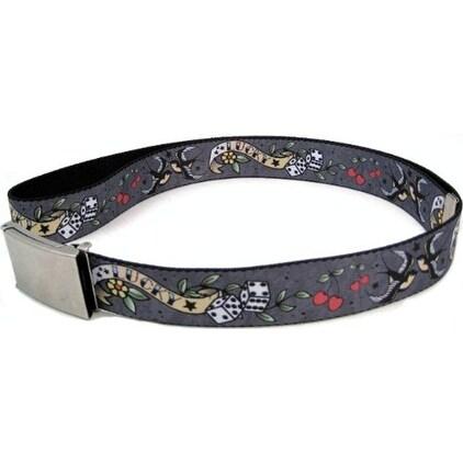 """Buckle-Down Web Belt Lucky Tattoo 1.5"""""""