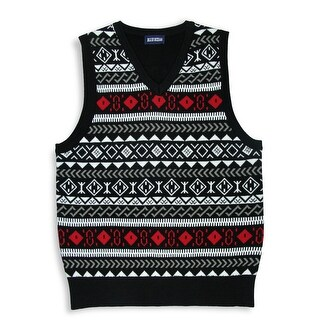BOYS JACQUARD SWEATER VEST