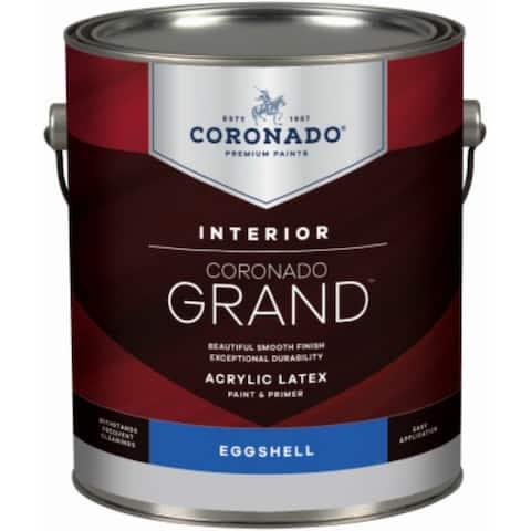 Coronado 702-32-4 Grand Acrylic Latex Paint/Primer, Eggshell, Pastel Base, 1 Qt