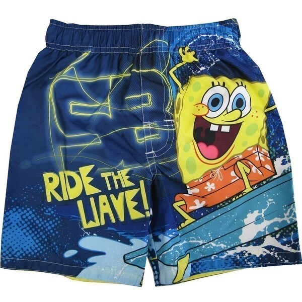 16bb4a3a54649 Shop Nickelodeon Little Boys Blue SpongeBob SquarePants UPF 50+ Swim Shorts  - Free Shipping On Orders Over $45 - Overstock - 18167285