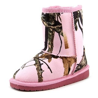 Dawgs Mossy Oak Toddler Round Toe Synthetic Pink Winter Boot
