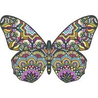 """Jigsaw Shaped Puzzle 371 Pieces 26""""X18""""-Butterfly"""