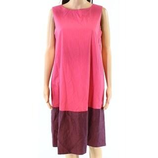 Max Mara Women's Two-Tone Scoop Neck Shift Dress