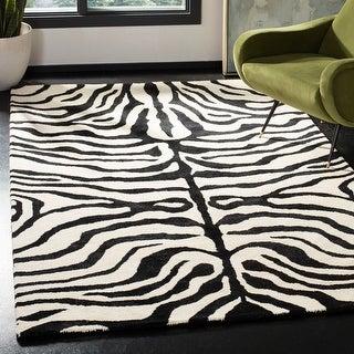 Link to Safavieh Handmade Soho Melie Zebra N.Z. Wool Rug Similar Items in Rugs