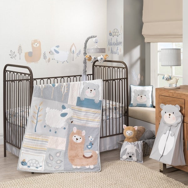 Lambs & Ivy Happi by Dena™ Little Llama Nursery 4-Piece Baby Crib Bedding Set