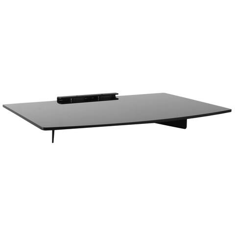 Mount-It! A/V Component Wall Mounted Glass Shelf