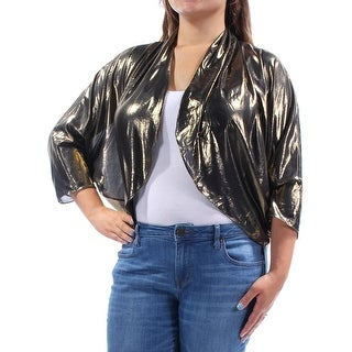 Womens Gold Black Party Bolero Jacket Size XL