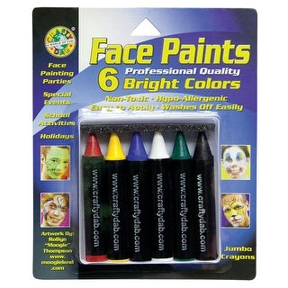 Crafty Dab Jumbo Crayon Face 6 Pk