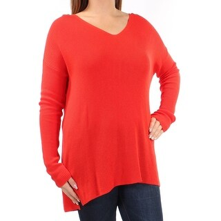 Eileen Fisher NEW Poppy Red Womens Size Small S V-Neck Knit Sweater