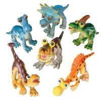 Super Cute Baby Cartoon Dinosaur Set of 6 Toys - (6) baby cartoon dinos
