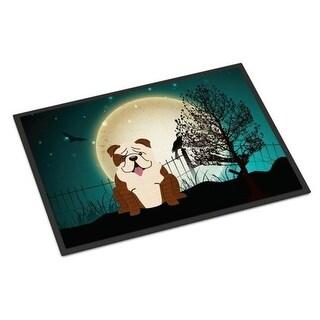 Carolines Treasures BB2311MAT Halloween Scary English Bulldog Brindle White Indoor or Outdoor Mat 18 x 0.25 x 27 in.