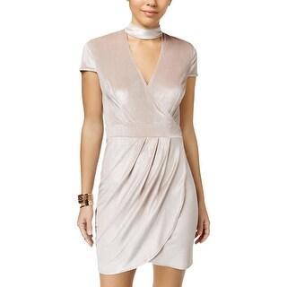 B. Darlin Womens Juniors Party Dress Velvet Choker - 1/2