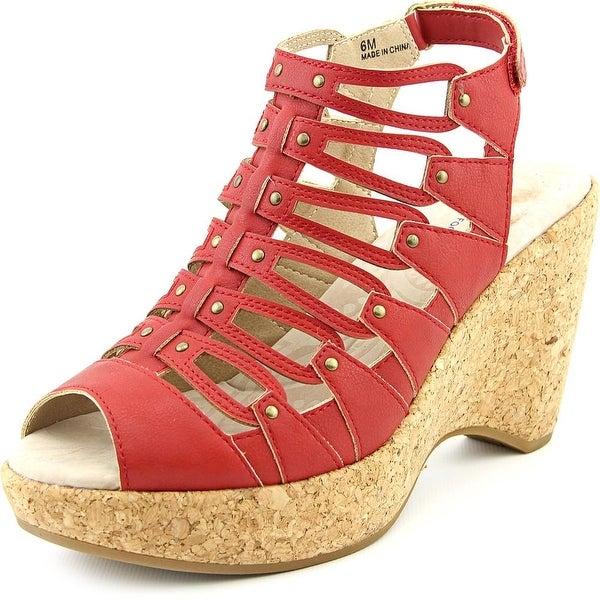 JBU by Jambu Lillian Women  Open Toe Synthetic Red Wedge Sandal