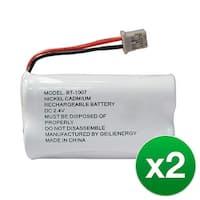 Replacement For Panasonic PQP506SVC Cordless Phone Battery (600mAh, 2.4V, Ni-MH) - 2 Pack