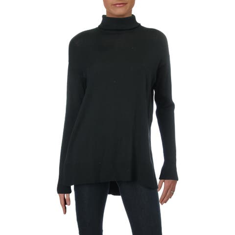 Matty M Womens Pullover Sweater Ribbed Trim Knit - Black - S