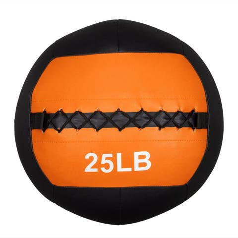 Soft Wall Medicine Ball 25 lbs, for Exercise, Rehab, Core Strength