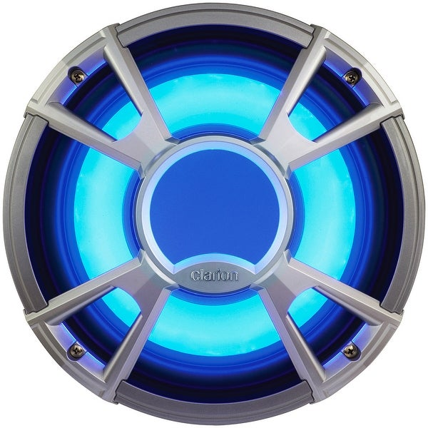 "Clarion CMQ2512WL 10"" 4-OHM Subwoofer 400W w/LED - Light Blue"