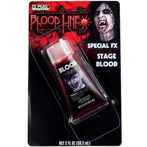 2 Fluid Ounces Fake Stage Blood Costume Makeup Kit - Red