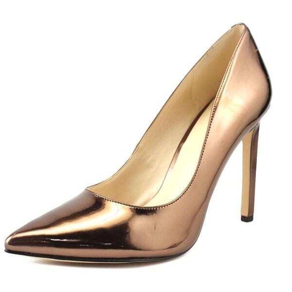 16e74053516 Shop Nine West Tatiana Women Pointed Toe Synthetic Bronze Heels ...