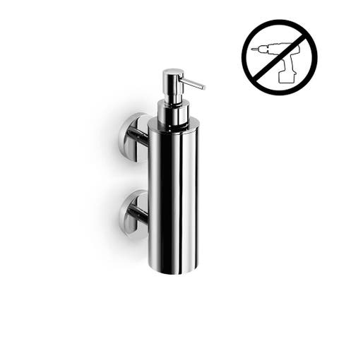 WS Bath Collections Duemila 55032-G Wall Mounted Double Post Brass Soap Dispenser from the Duemila Glue Collection