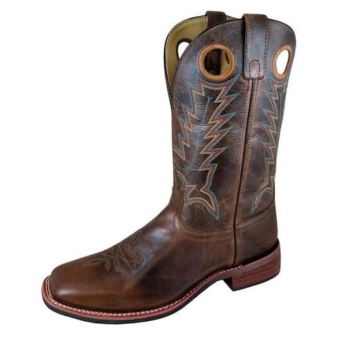 Smoky Mountain Western Boots Mens Blake Brown Waxed Distress