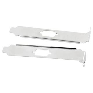 Unique BargainsSingle DB9 Com Serial Port Bracket Silver Tone 2 PCS for PCI/PCI-E
