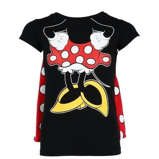 Disney Minnie Mouse Short Sleeve Tee Shirt with Cape