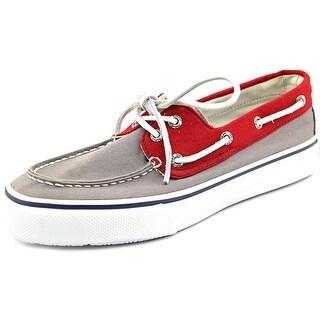 Sperry Top Sider Bahama 2-Eye Men Moc Toe Canvas Blue Boat Shoe