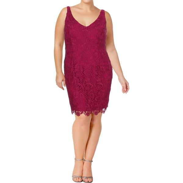 Lauren Ralph Lauren Womens Cocktail Dress Lace Sleeveless