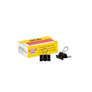School Smart Binder Clip, 9/16 in W, Mini, 1/4 in Capacity, Tempered Steel/Nickel Wire, Pack of 12