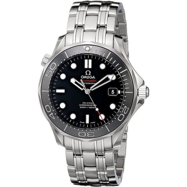 Omega Men's 212.30.41.20.03.003 'Seamaster' Stainless Steel Watch - Black. Opens flyout.