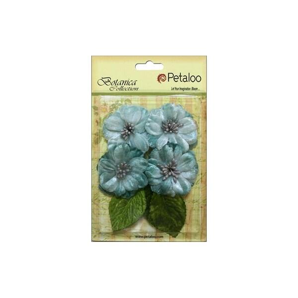 Petaloo Botanica Vintage Velvet Peonies Teal