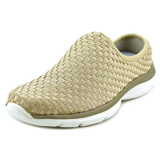 Easy Spirit e360 Quinby Women Round Toe Canvas Gold Walking Shoe