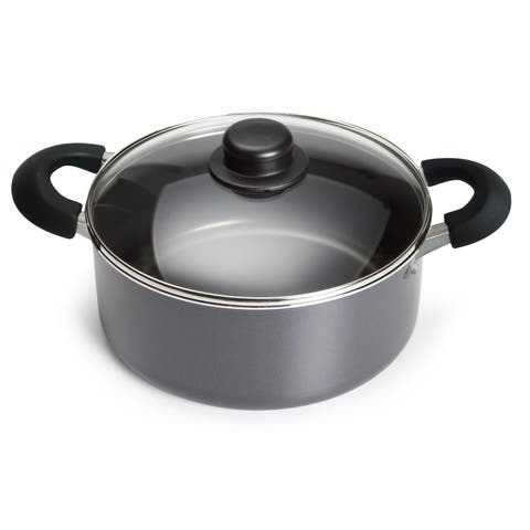 Bene Casa non-stick speckled Dutch Oven, 3.06-Quart capacity Dutch Oven with tempered glass lid, easy clean Dutch Oven