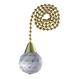 """Westinghouse 12""""Brs Beaded Pull Chain"""
