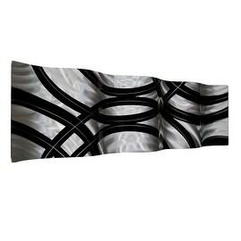 Statements2000 Black / Silver Metal Wall Art Accent Wave by Jon Allen - Crossroads Wave