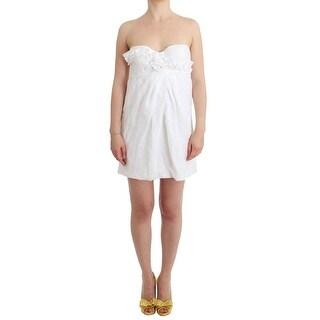 Ermanno Scervino Ermanno Scervino Beachwear White Beach Dress Bustier Mini