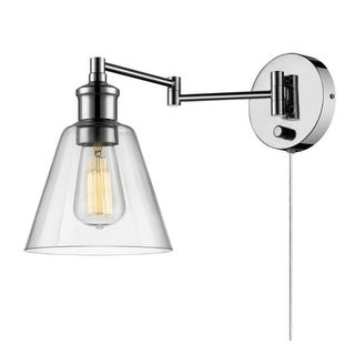 globe electric leclair single light 7 inch wide plug in wall sconce