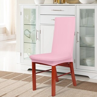 Unique Bargains Spandex Stretch Pink Dining Chair Cover Chair Slipcovers