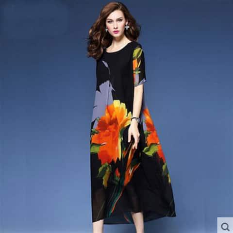 Printed Silk Dresses